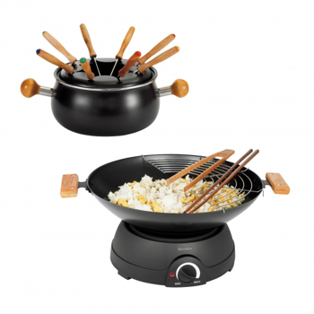 Wok electric si fondue 2 in 1 DomoClip DOM194, 1500W