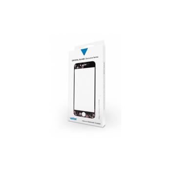 Folie sticla Vetter iPhone 7 Plus Full Frame Tempered Glass with Swarovski Crystals,Vetter,Negru