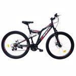 "Bicicleta MTB Rich 27.5"" R2750D FS, Negru/Alb/Rosu"