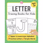 Letter Tracing Books for Kids Ages 3-5: A Beginning Letter Tracing Book for Toddlers (A-Z) With Activity Book for Kids, Paperback - Tuebaah