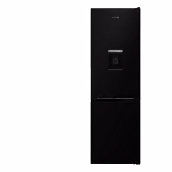 Combina frigorifica Heinner HC-V270BKWDF+, 268l, Super congelare, Dozator de apa, Clasa F, H 170 cm, Negru
