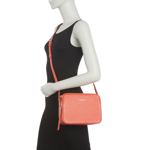 Genti Femei Lancaster Paris Small Leather Crossbody Bag WATERMELON