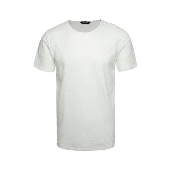 Tricou basic alb prafuit din bumbac - ONLY & SONS Albert