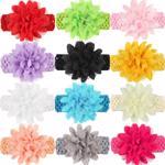 Elastice de par, modele cu succes la vanzare, pentru fete si fetite, bentite de cap din dantela cu funda in forma de floare