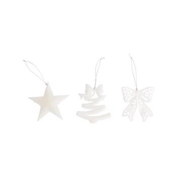 Ornament Actuel, fund, stea, glob,Culoare alb