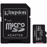 Card memorie Card memory with adapter Kingston Canvas Select Plus SDCS2/64GB (64GB; Class 10, Class U1, V10; + adapter)
