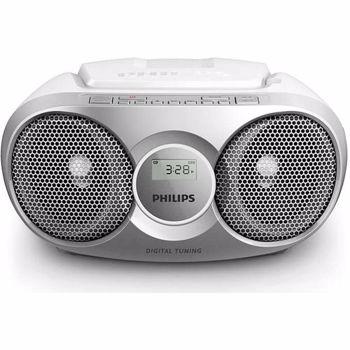 Microsistem audio Philips, AZ215S/12, CD-R, CD-RW, FM stereo, Argintiu