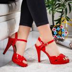 Sandale Pinola rosii elegante -rl