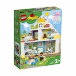 LEGO 10929 DUPLO Town Modular Playhouse 3-in-1 Set, Dolls House for 2+ Year Old Girls and Boys with Figures and Animals for Toddlers