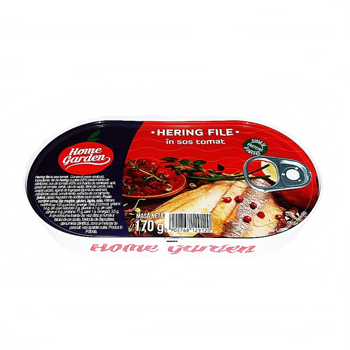 Hering file Home Garden in sos tomat 170 g