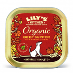 Conserva Caini Lily's Kitchen Organic cu Vita, Morcovi si Mazare, 150 g