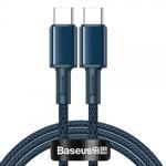 Cablu Premium Baseus Usb Type-C La Usb Type-C, Power Delivery 100W 5A, 1M Lungime, Albastru - CATGD-03