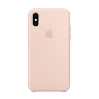 Husa Protectie Spate Apple iPhone XS Silicone Case Pink Sand