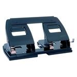 Perforator metalic Rapesco cu 4 perforatii, negru