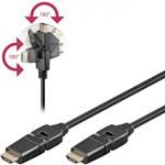 Goobay Cablu HDMI HiSpeed cu eternet 360° 2m