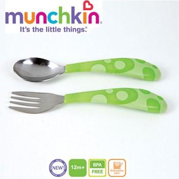Munchkin - Set 2 tacamuri Lingurita si Furculita Inox 12L+