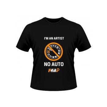 Tricou negru - I am an Artist (No Auto) - M