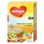 MILUPA Musli Junior 7 Cereale (fara lapte) cu 5 fructe 250g 12+ luni