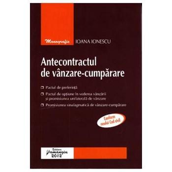 Antecontractul de vanzare-cumparare - Ioana Ionescu 614916