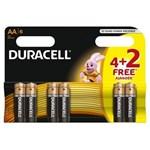 DURACELL baterie Basic AA LR06 4+2 gratis