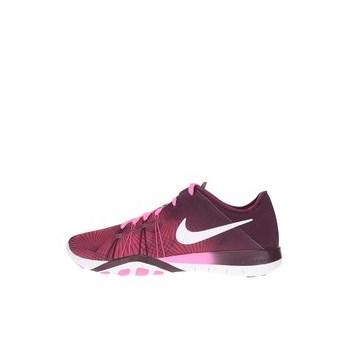 Pantofi sport roz cu visiniu Nike Free 6 Print pentru femei