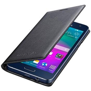 Husa Flip Cover Samsung EF-FA300BCEGWW pentru Galaxy A3, Negru