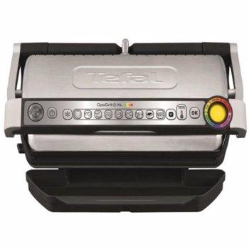 Gratar electric TEFAL OptiGrill+ XL GC722D34, 2000W, 9 programe automate, argintiu-negru