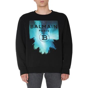 Balmain Crew Neck Sweatshirt UH13419_I303AAA Culoarea MULTICOLOUR BM7853860