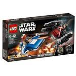 Set de constructie LEGO Star Wars A-Wing contra TIE Silencer Microfighters