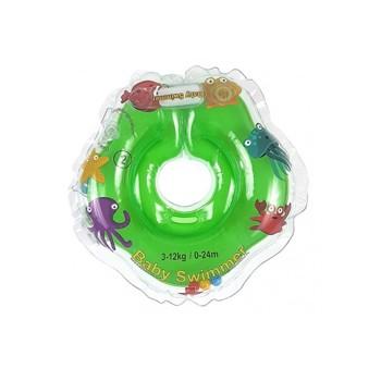 Colac de gat pentru bebelusi Babyswimmer verde 0-24 luni