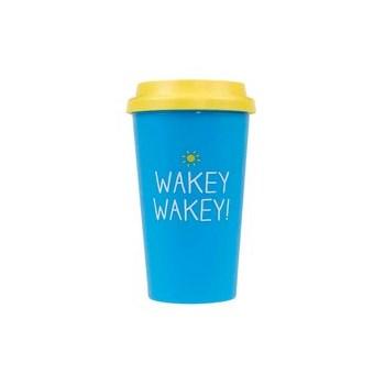 Cana de calatorie Happy Jackson Wakey Wakey - albastru