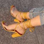 Sandale de vara pentru femei, cu barete ?i tocuri inalte, stil bandage