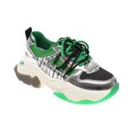 Pantofi sport FLAVIA PASSINI verzi, L1107, din material textil si piele naturala