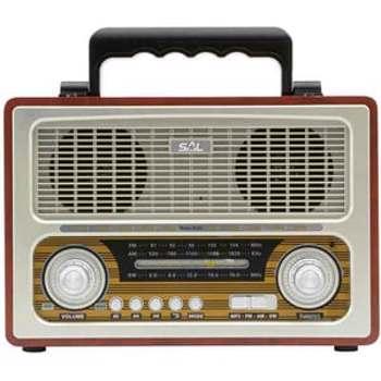 Radio portabil retro Sal RRT 3B MP3 SD USB Bluetooth 3 benzi rrt 3b