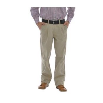 Pantaloni  bej din bumbac
