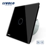 Intrerupator wireless cu variator cu touch Livolo din sticla Negru vl-c701dr-12