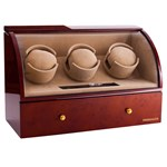 Brown Watch Winder Basel 3 by Designhütte - Made in Germany