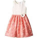 Us Angels Brocade Lace Sleeveless Dress w/ Satin Ribbon Trim (Toddler/Little Kids) Culoarea Blue