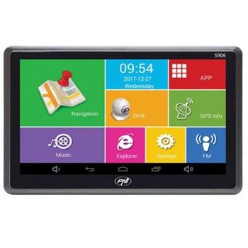 Sistem de navigatie GPS + DVR PNI S906 ecran 7 inch cu Android 6.0 harti Here Maps si Waze cu radarele din Romania pni-s906
