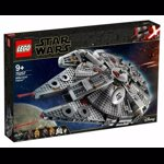 LEGO 75257 Star Wars Millennium Falcon Starship Construction Set, with Finn, Chewbacca, Lando Calrissian, Boolio, C-3PO, R2-D2 and D-O, The Rise of Skywalker Collection