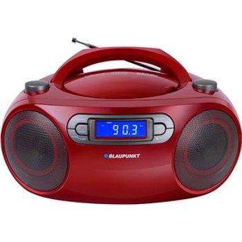 Microsistem Blaupunkt BB18RD, FM, CD, MP3, USB, AUX, 4W RMS, alarma, antena telescopica, LCD, alimentare la retea/baterii, rosu