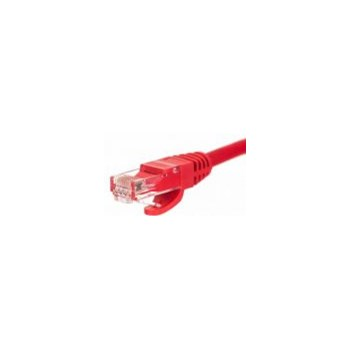 Netrack patch cable RJ45, snagless boot, Cat 5e UTP, 0.5m red