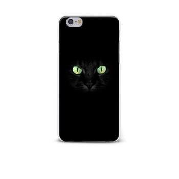 Carcasa neagra pentru iPhone 6/6S Epico Dark cat cu imprimeu