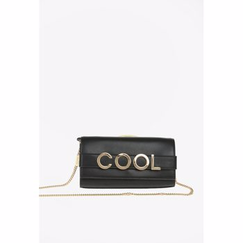 Michael Kors Leather BELLAMIE Clutch with Shoulder Chain Culoarea BLACK BM7901581