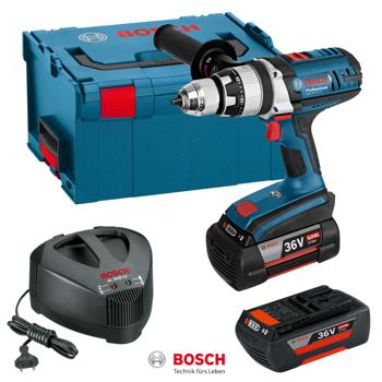 Surubelnita cu acumulator Bosch GSB 36 VE-2 LI 2 x 4,0 Ah L-Boxx