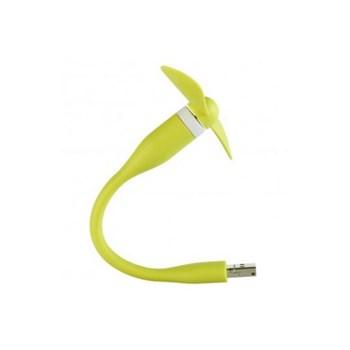 Ventilator mini portabil USB + micro-USB Benks verde
