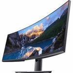 Monitor curbat LED IPS DELL UltraSharp U4919DW, QHD, 60Hz, argintiu