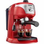 Espressor manual De'Longhi EC221.RED, Dispozitiv spumare, Sistem cappuccino, 15 Bar, 1 l, Oprire automata, Rosu