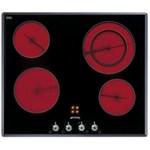 Plita incorporabila Smeg Linea SE661X1, 60 cm, plita ceramica, 4 zone gatit, sistem siguranta, sticla neagra