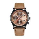 Ceas casual barbatesc Curren Quartz 8207-4 bronz
